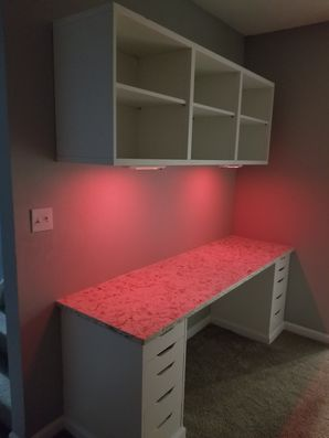 Built in Desk & Shelving with LED Lighting in Griffin, GA (2)