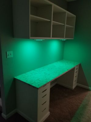 Built in Desk & Shelving with LED Lighting in Griffin, GA (3)