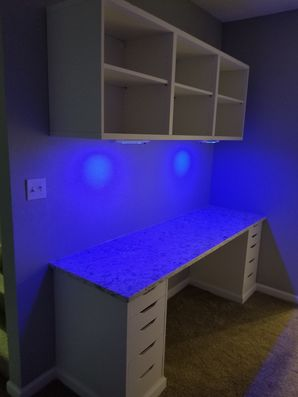 Built in Desk & Shelving with LED Lighting in Griffin, GA (4)