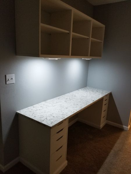 Built in Desk & Shelving with LED Lighting in Griffin, GA (5)
